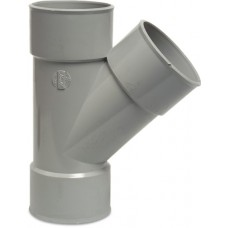 T-STUK 45° PVC-U 40 MM LIJMMOF GRIJS KOMO AB01