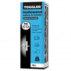 HOLLEWAND ANKER (BLAUW) 10-64MM M8 (DOOS 4ST.)