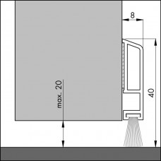 ELLEN TOCHTPROFIEL PVC PDS-B ZK MER. 100 (DECO & COMFORT)